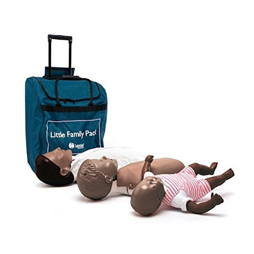 Laerdal Dunkle Haut Little Family Pack mit Trolley Tasche