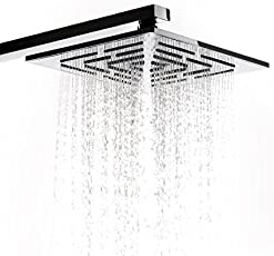 ZEYA Complete Range of Maze Overhead Bathroom Shower in 4x4, 6x6, 8x8, 10x10, 12x12 inches Without Shower Arm