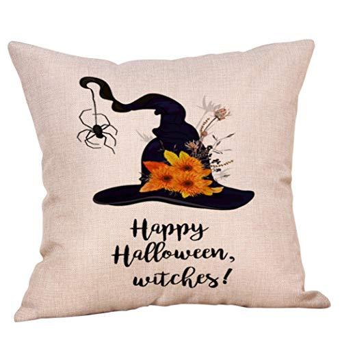 Ears Halloween Home Decor Halloween Halloween Kissenbezüge Leinen Sofa Kürbis Geister Kissenbezug Home Decor