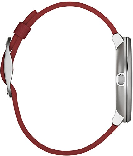 Pebble 14 mm Time Round Smartwatch – Silver/Red
