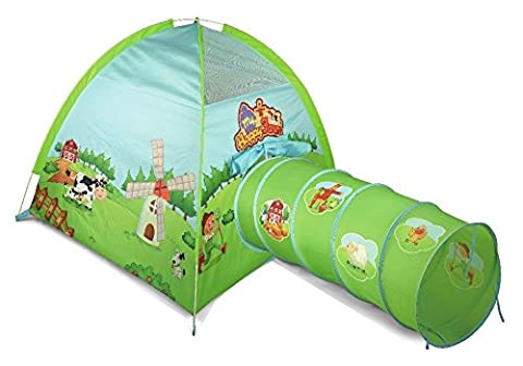 Childrens, Kids Adventure Play Tent and Tunnel - Farmyard Design by Inside Out Toys®