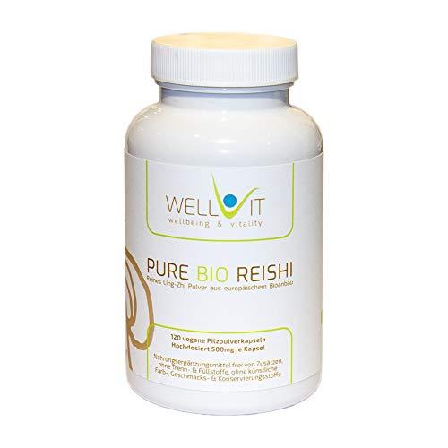 Pure Bio Reishi 120 cápsulas por 500 mg de Ling-Zhi, de la...