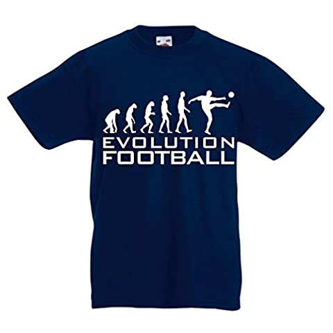 T-shirt pour enfants The Evolution Football (14-15 years Bleu foncé Blanc)