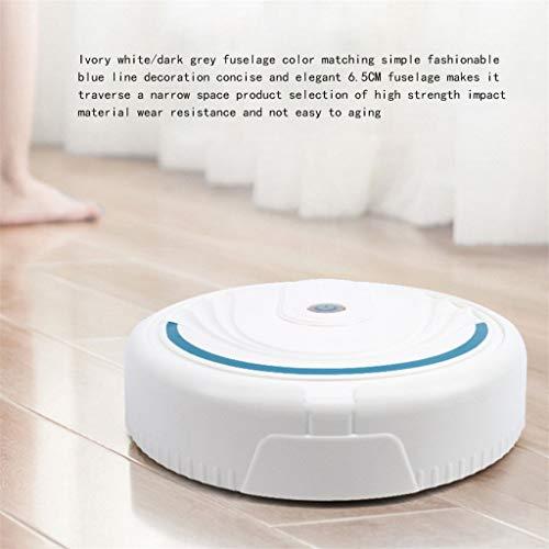 TianranRT❄Robot de Aspiración Inteligente Robot Robot de Limpieza de Pisos (Blanco)