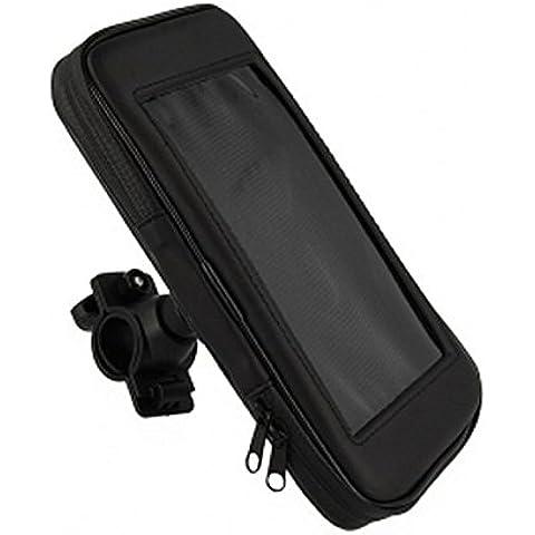 Trendy8 Soporte Impermeable Universal para Bicicleta 029845, para Sony Xperia Z Ultra, HTC One Max, Nokia Lumia 1320, Lumia 1520, Samsung Galaxy Mega 6.3 I9200, Galaxy Mega 5.8 I9150/I9152, Compatible con dispositivos con las dimensiones máximas de pantalla de 133 mm (A) x 75mm (A), Carcasa - XXXL - Negro
