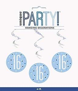 Unique Party- Adornos, Color blue & silver (83795)
