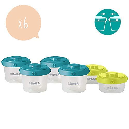 Béaba 912481 - Set de 6 potes de conservación comida...