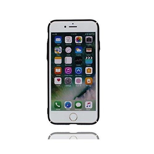 iPhone 6S Custodia, Premium TPU flessibile durevole Apple iPhone 6/6s Copertura 4.7 Case [Slim] + [Peso leggero] ( Mostro Lovely) elegante Nero
