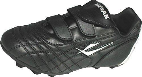 MIRAK Forward simple fermeture enfants sport moulé Chaussures noir-argenté