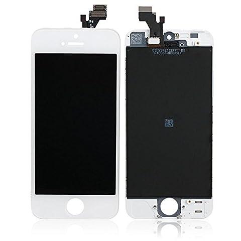 Ecran à cristaux liquides à écran tactile et écran à cristaux liquides Écran de remplacement LCD avec Touch pour iPhone 5 Blanc