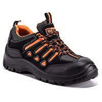 Black Hammer Mens Steel Toe Cap Trainers Safety Comfortable Lightweight Shoes Ankle Boots Hiker 6682 SB SRC