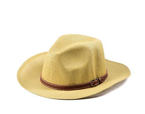 Miuno Unisex Panamahut Herren Damen Partyhut Stroh Hut H51016 (Camel)