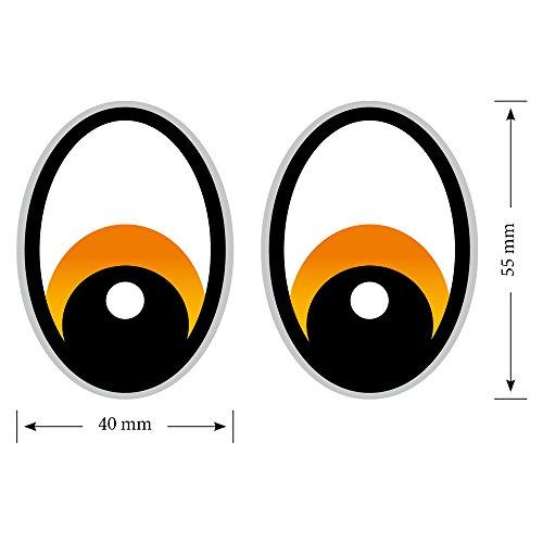 Augen Orange Saugroboter,Aufkleber,Staubsauger Roboter,Sticker,Eye,Stickers,Mähroboter Grau Rasenmäher Mähroboter