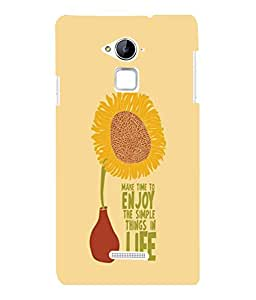 printtech Cool Quotes Life Back Case Cover for COOLPAD NOTE 3 / COOLPAD NOTE 3 PLUS