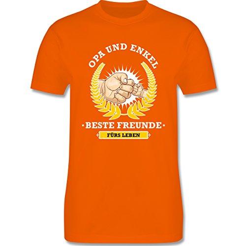 Shirtracer Opa - Opa und Enkel - Beste Freunde fürs Leben - Herren T-Shirt Rundhals Orange