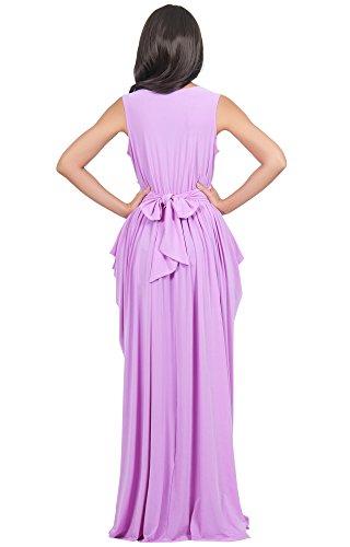 KOH KOH® Femmes Robe Sans Manches Femme Demoiselle d'honneur Violet