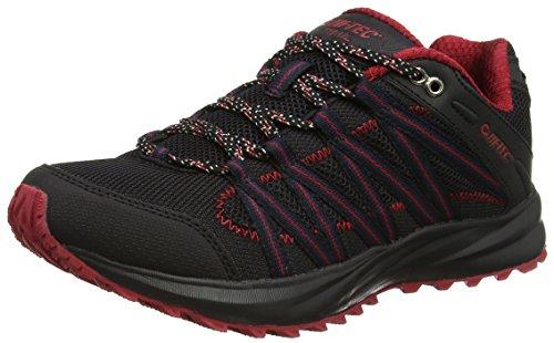 Hi-Tec Sensor Lite, Chaussures de Trail Homme Noir (Black/red 028)