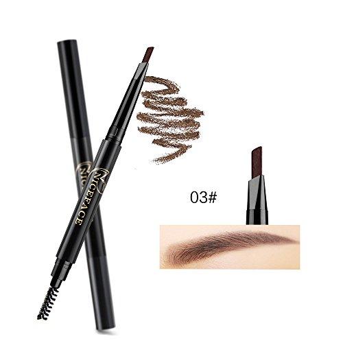 Stylo à sourcils, SHOBDW Crayon étanche aux sourcils Avec l'outil cosmétiques Brush Makeup (Noir C)