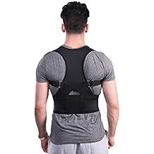 Espalda Brace Corrector de Postura, ocool ajustable Corrector de Postura de Espalda y clavícula Brace para corregir hombro mejora la postura y proporciona soporte lumbar para inferior y superior de la espalda dolor para mujeres, hombres