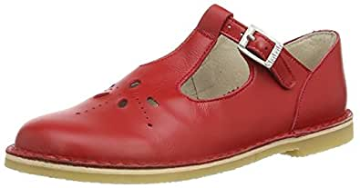 Start Rite Lottie III, Sandales Bout Ouvert Mixte Enfant, (Red Leather), 24 EU