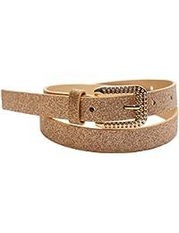 EANAGO Cinturón para Niños en jardín de infantes y escuela primaria, caderas 57-72 cm (dorado)