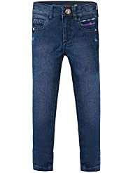 CATIMINI - Pantalon toile denim stretch bleu stoné bébé fille Catimini