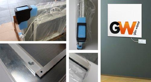 Glaswärmt Infrarotheizung Infrarot 550 Watt Metall-Premium Weiss Wand & Deckenmontage Heizung