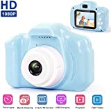 Zowam Kids Digital Camera, 1300W HD Children Video Record Camera with 2.0 Inch Touch Screen and 16GB TF Card, Rechargeable Video Camera for 3-10 Year Old Boys Girls