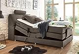 Froschkönig24 Palermo 120x200 cm Boxspringbett Bett mit Motor Stone, Ausführung:Variante 4