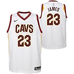 Nike NBA Cleveland Cavaliers Lebron James 23 LBJ 2017 2018 Association Edition Jersey Official, Camiseta de Niño