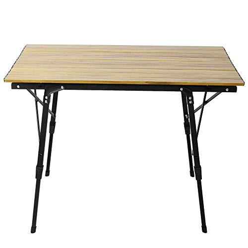 Bnineteenteam Camping Picknick Klapp Aluminiumlegierung Tisch tragbare verstellbare Tisch Schreibtisch Montage für Picknick, Grill, Gartenpartys, Essen, etc. -