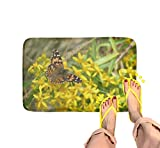 FBCN Tappeto da Bagno, Antiscivolo, Assorbente, per Bagno, Cucina, 30 x 18 cm, Dipinto con Farfalla