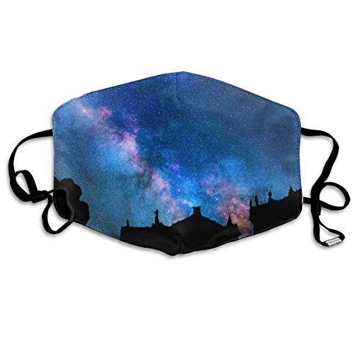 Face Masks with Design, Starry Sky Fashion Unisex Face Mouth Mask Ear-Loop Dustproof Mask (Dvd Rats Hood)