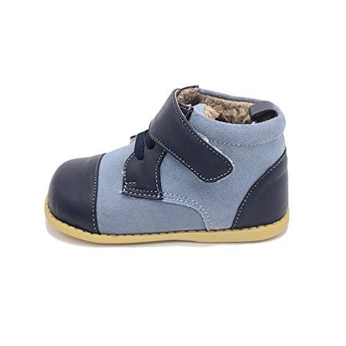 Feidaeu Baby Kinderstiefel Mode Leder Nähte Kinder bequem weiche weiche Stiefel warme Stiefel Baby Kleinkind Schuhe Jungen und Studentin Schuhe 22 -