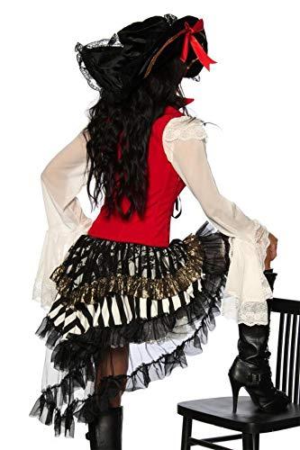 Schwarze Kostüm Und Rote - Piraten-Kostüm - rot/schwarz - XS