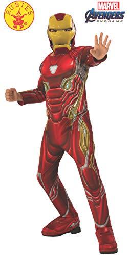 Kostüm Kinder Roboter Dress Fancy - Rubie's Offizielles Avengers Endgame Iron Man, Deluxe Kinderkostüm, Größe M, Alter 5-7, Höhe 132 cm