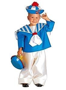 clown republic - Disfraz de pequeño marino para niño, 15802/02, color blanco