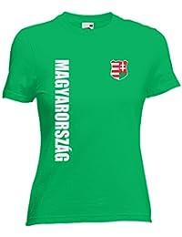 a2a19f86b0 Ungarn Magyarorszag Damen T-Shirt Trikot Wunschname Wunschnummer