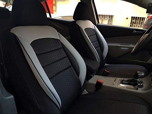 Sitzbezüge k-maniac | Universal schwarz-grau | Autositzbezüge Set Vordersitze | Autozubehör Innenraum | Auto Zubehör für Frauen und Männer | V1103320 | Kfz Tuning | Sitzbezug | Sitzschoner