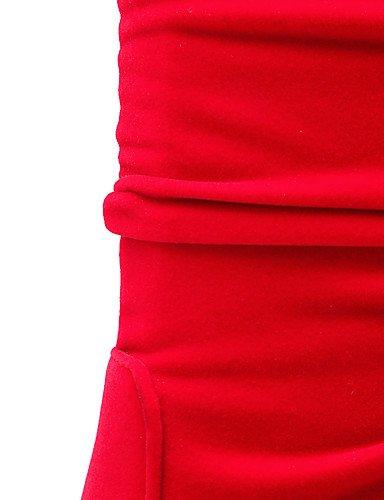 CU@EY Da donna-Stivaletti-Ufficio e lavoro / Casual-Stivali-Quadrato-Finta pelle-Nero / Rosso red-us9 / eu40 / uk7 / cn41