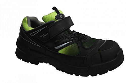 Sanita Unisex-Erwachsene Norite-s1p Velcro Leather Shoe Sicherheitsschuhe Schwarz (Schwarz)