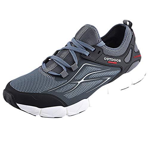 SHE.White Herren Casual Laufschuhe Leichte Gym Sneakers Fitness Turnschuhe männer Mesh Sport Schuhe Größe 39-45 (Einfache Geist Schuhe)