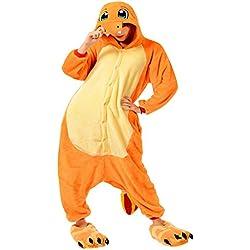 Molly Kigurumi Pijamas Traje Disfraz Animal Adulto Animal Pyjamas Cosplay Homewear L Amarillo Dragón