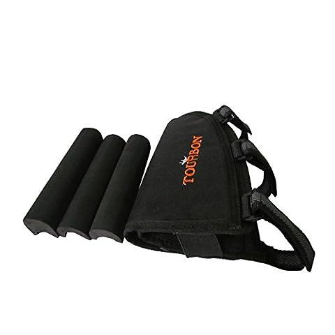 tourbon Hauteur réglable Buttstock Fusil Cartouche Support Cheek Rest Pochette Black (for left hand people)