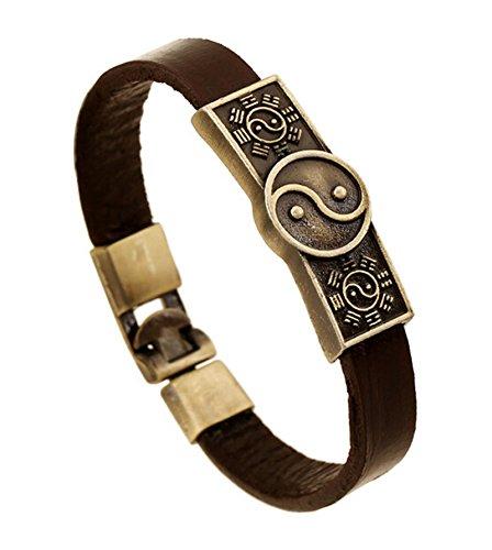 Epinki Taiji Bagua Yin Yang Armband Lederarmband Leder für Herren
