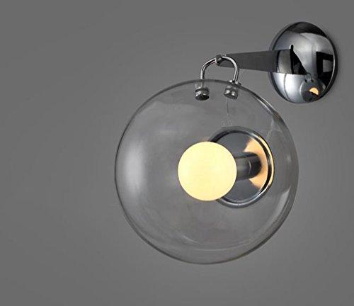 Zwl lampada da parete di vetro semplice moderna camera da letto caldo comodino creativo living room restaurant bolle di sapone lampada da parete di vetro moda (colore : a)