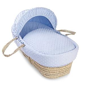 Dimple Palm Moses Basket - Blue   15
