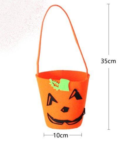 Halloween Dekorationen Kostüm Zubehör Kinder Hand Kürbis Bag Geschenke Candy Bags Tasche Green Hat Pumpkin Bag