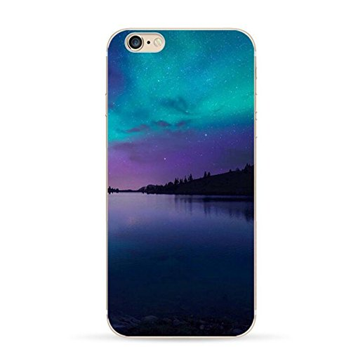 Pacyer® iPhone 7 Custodia Cielo Stellato Transparente TPU Gel Silicone Protettivo Skin Shell Case Cover Per Apple iPhone 7 (4.7) 3