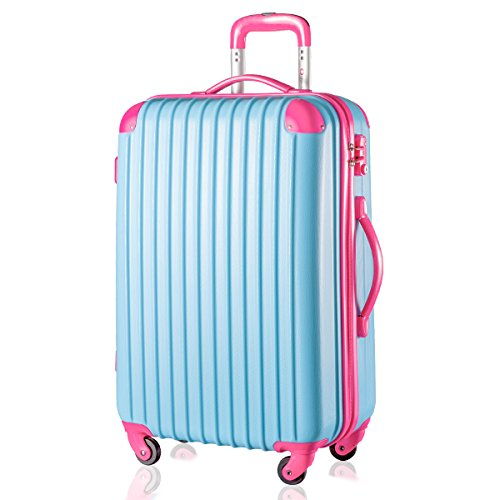f23be25557d3 Merax Super Lightweight ABS Hard Shell Travel 4 Spinner Wheels Suitcase  Cabin Hand Luggage
